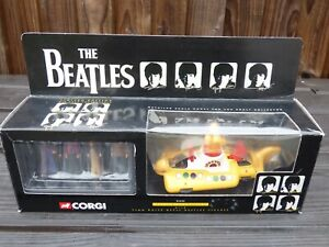 CORGI-I-BEATLES-YELLOW-SUBMARINE-05403-Vintage-Toy-amp-4-Figure-in-metallo-bianco