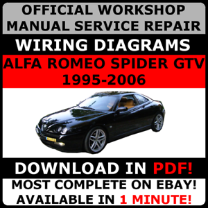 OFFICIAL WORKSHOP Repair MANUAL For ALFA ROMEO SPIDER GTV - Alfa romeo spider workshop manual