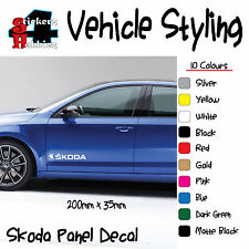 Skoda Octavia Fabia Superb VRS vrs Panel Sticker Decal x2 .