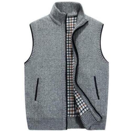 Padded Men/'s Vest Winter Outwear SleevelessJacket Warm Coat Autumn Thicken