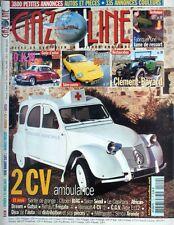 GAZOLINE n°110 - DKW RENNET BONNET Djet 1 CLEMENT BAYARD CITROËN 2CV Ambulance