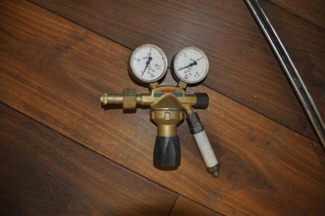 Druckminderer Druckregler GCE RHÖNA Sauerstoff 200 bar Flaschendruckminderer