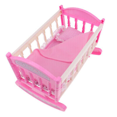 "Crib Baby Doll Bed /& Stroller for 9/""-11/"" Reborn Girl Doll Kids Playset Toy"