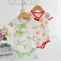 1pc baby girls summer clothes Christening Party Birthday bodysuit Chinese style