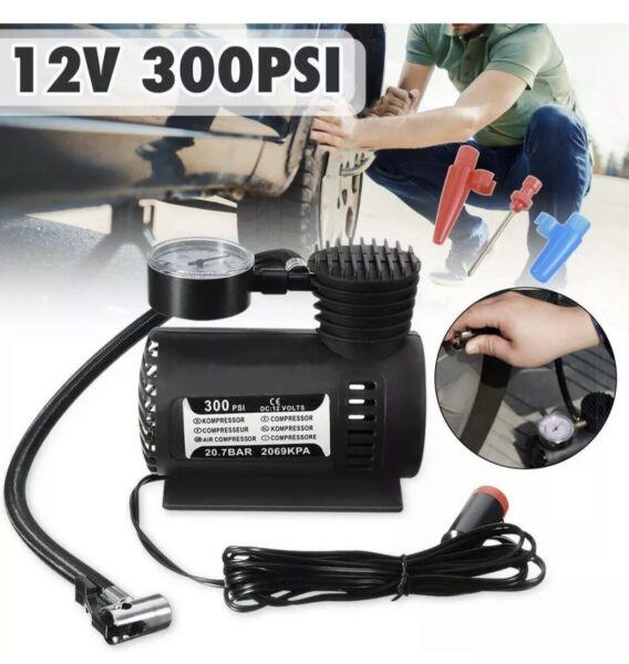 300psi Electric Air Compressor Portable Pump Mini Inflator Tyre Car Van Bike 12v