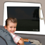Jeep Car Sun Shade Static Cling Pck of 2 Black Baby Seat Tint Fit UV Protection