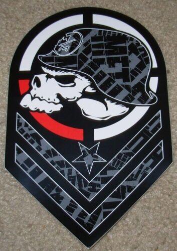 "METAL MULISHA Parallel Skull Helmet Skate Sticker 8/"" motocross skateboard decal"