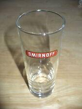 6 Smirnoff Gläser 2 & 4 Cl Strich 16,5 cm hoch 6 cm Glasöffnung