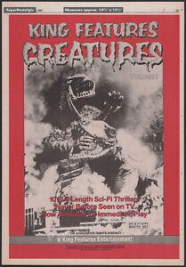 KING FEATURES CREATURES__Orig. 1987 Trade AD / TV promo/ poster__GAMERA__BARUGON
