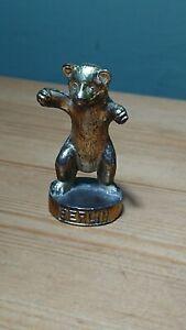 Rare-Vintage-Solid-Brass-2-034-Bear-Figurine-Paperweight-Berlin-Souvenir
