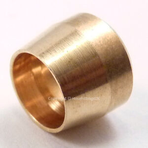AN-3-AN3-Brass-OLIVE-FERRULE-INSERT-for-PTFE-Braided-Brake-Hose-Fitting