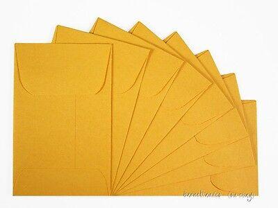 50 Coin Envelopes in Golden Kraft or White,  2 1/4 x 3 1/2 inches, 24LB, gummed