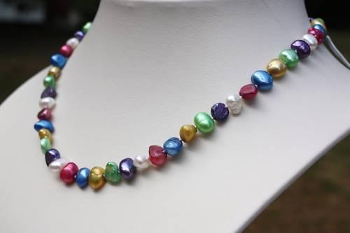 Br24 57cm agua dulce cría perlas joyas collar de perlas collar cadenas Collier