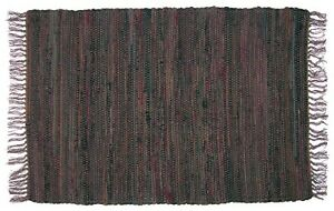 Details About Brown Rag Rug Runner 24 X 72 100 Cotton Hand Woven