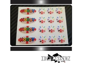 NODDY-white-Oval-amp-Dial-domed-Stickers-decals-Set-for-the-Delkim-TXI-PLUS-EV-STD