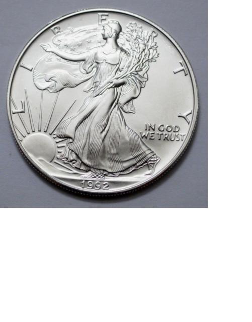 1992 Silver Eagle Fresh BU Roll of 20 Low Mintage