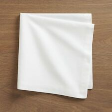 , Pack of 10 Plain White180 Thread Count Napkins Light Weight Polyester Cotton