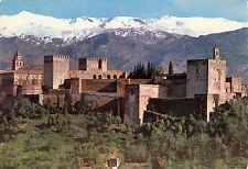 BF13889 granada vista general de la alhambra y sierra ne spain front/back image