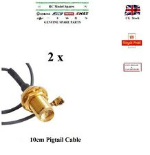 2Pcs Pigtail Cable 10 cm Mini PCI U.FL to RP-SMA Female Antenna AERIAL WiFi UK