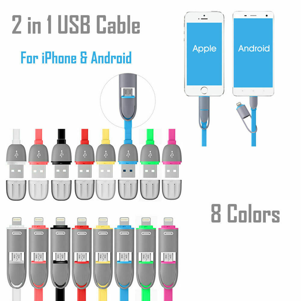 Details about For Android Apple 2 In 1 USB Data Sync Cable Wire Charger on ipad 2 usb cable diagram, iphone 5 charger plug wiring diagram, iphone 4 and 4s,