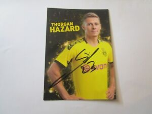 Thorgan-Hazard-Borussia-Dortmund-BVB-SIGNIERTE-Autogrammkarte-2019-20-19-20