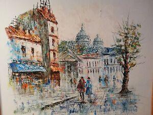 Peinture-huile-sur-panneau-bois-signee-Caroline-C-Burnett