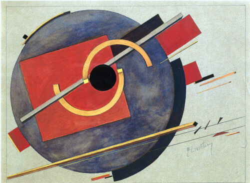 EL LISSITZKY PRELIMINARY SKETCH FOR POSTER ABSTRACT ART DECOR HOME  GICLEE PRINT