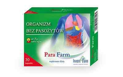 PARA FARM 30 cap Pinworms, Roundworms, Tapewor Potent Defence against Parasites