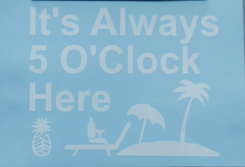 Novelty Words /& Phrases Party Time Margaritaville Oracal Vinyl Decal Sticker