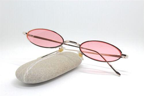 Lunettes de Soleil Homme Femme Ovale Petit or Rouge Noir Rose Steampunk Hippies