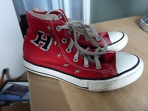 CHILDS CONVERSE ALL STAR RED ANKLE HIGH