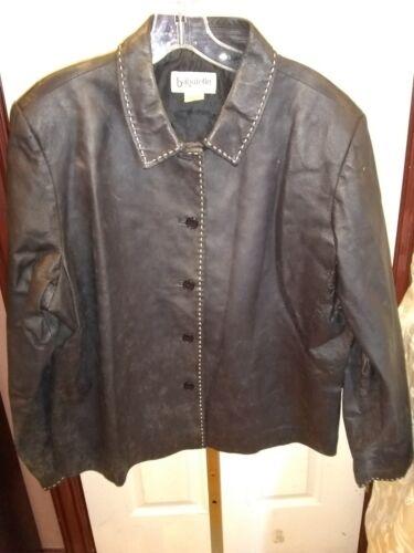 Leather Coat Black Jacket Bagatelle Women's XL
