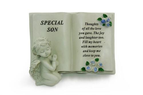 Special Son Cherub Graveside Remembrance Plaque Ornament DF17414H