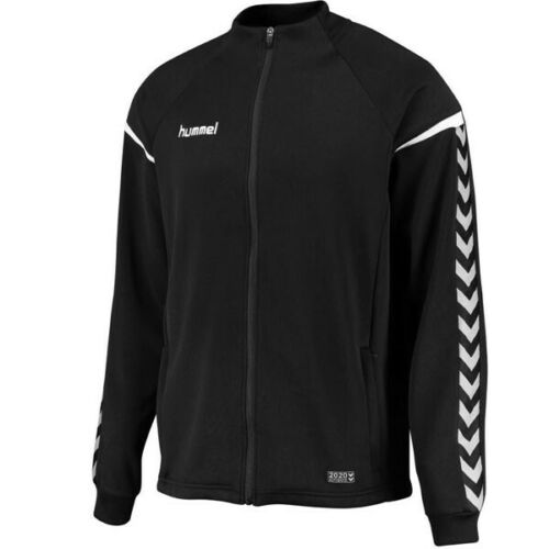 HUMMEL AUTHENTIC CHARGE POLY ZIP JACKET BLACK//WHITE SIZES 164 /& L BNWT RRP £40.