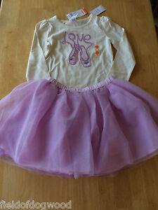 0b96c640d3 NWT Gymboree Everyday Dress UP Ballet Tee Shirt Tulle Tutu Skirt Set ...