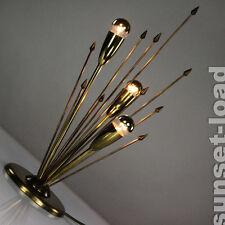 alte Tisch Lampe Sputnik Strahlen Leuchte Messing Pfeile 50er Jahre Mid Century