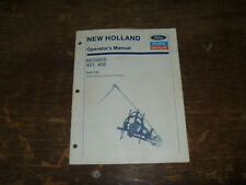 Ford New Holland 451 Amp 456 Sickle Bar Hay Mower Operator Maintenance Manual