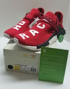 fa11e3eb1ff66 BRAND NEW ADIDAS PHARRELL WILLIAMS HUMAN RACE NMD SCARLET STOCKX ...