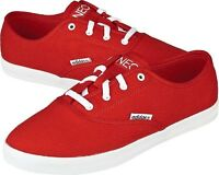 Adidas Womens Red Canvas Casual Neo Pumps/plimsolls/trainers/shoe Uk Sizes 3.5-8