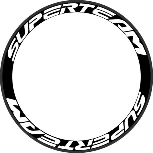 Superteam Wheel Rim Stickers Decals Racing Speed Road Bike Carbon Decals 2 RIMS