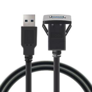 USB3-0-Male-to-USB3-0-Female-Car-Mount-Extension-Cable-for-Truck-Dashboard-Panel