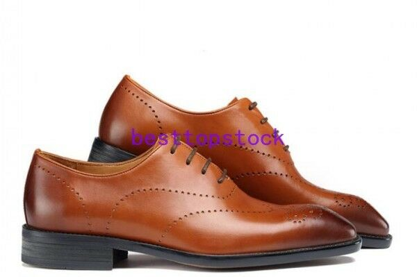 Uomo Pelle Formal Dress Lace Shoes Lace Dress Up Wedding Oxfords Derby pumps All sz 9d7442