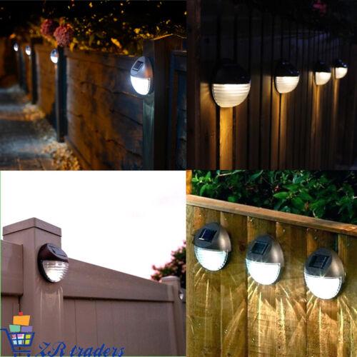 Energie Solaire 2 DEL Porte Clôture Mural Step extérieur Jardin éclairage Pathway Lumières