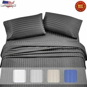 Image Is Loading High Thread Count Sheets For Bed 100 Long