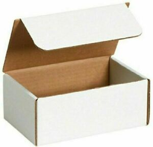 50-14 x 4 x 4 White Corrugated Shipping Mailer Packing Box Boxes