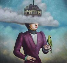 EIN HAUS IM HIMMEL Surrealismus Ölgemälde Gemälde oil on canvas painting
