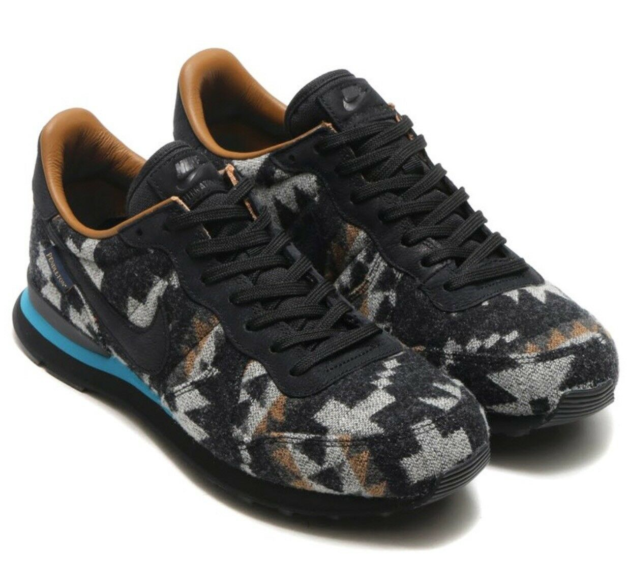 NIKE INTERNATIONALIST PND QS PENDLETON BLACK-STRATUS BLUE MENS 10 Orig. 140