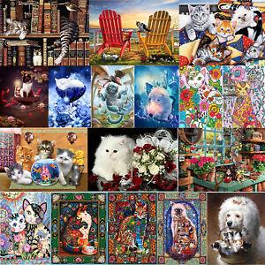 5D-DIY-Full-Drill-Square-Diamond-Painting-Lovely-Cat-Cross-Stitch-Art-Home-Decor