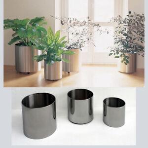 Portavasi Da Interno Design.Porta Vaso Tondo Acciaio Inox Satinato Portavaso Vasi Design Eleganti Fioriera Ebay