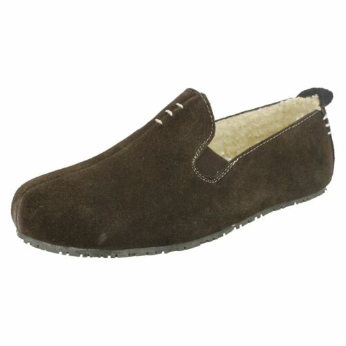 Mens Clarks Casual Rounded Toe Slip On Suede Comfort Slippers Kite Falcon
